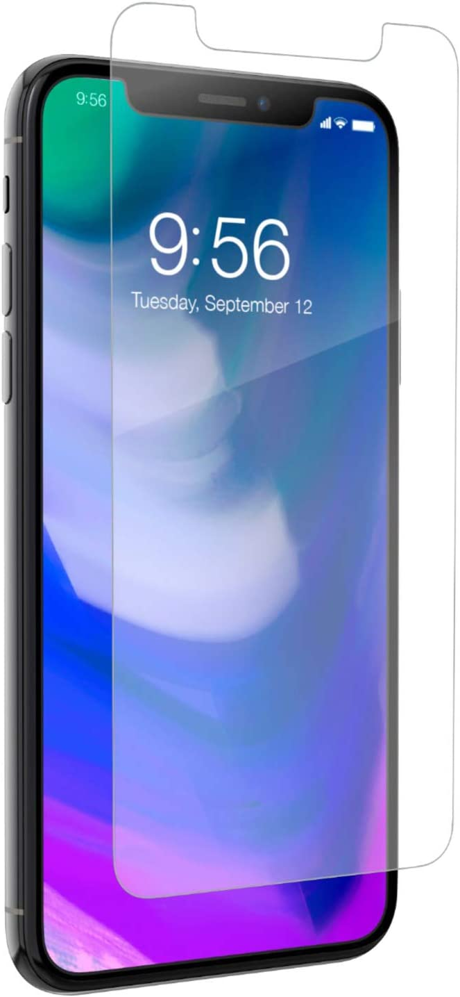 ZAGG InvisibleShield Glass+ Screen Protector – HD Tempered Glass for iPhone XS/X – Impact & Scratch Protection, Easy to Apply Tools Included - Bulk Packaging