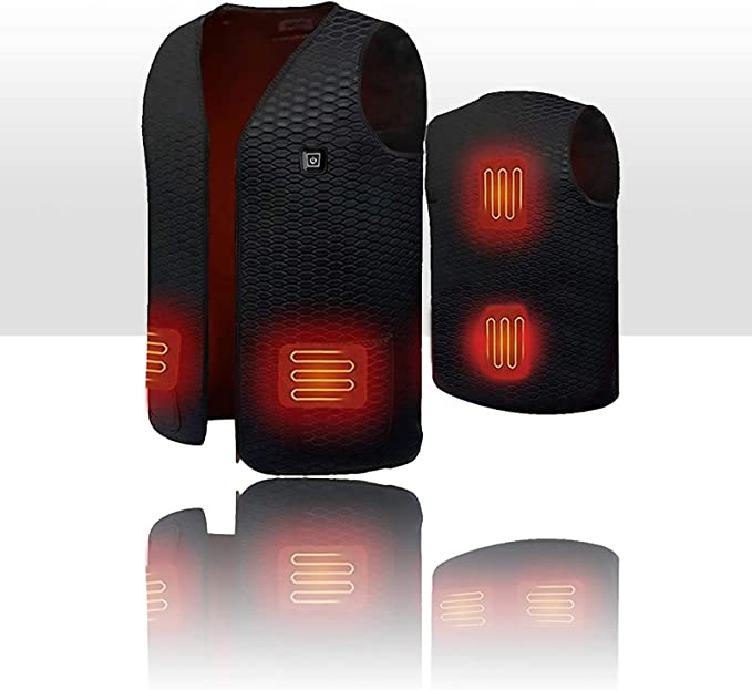 3 levels Temperature Control 10000 mAh with Power Bank N//D Heated Polar Fleece Vest Washable Body Warmer Lightweight for Man//Woman