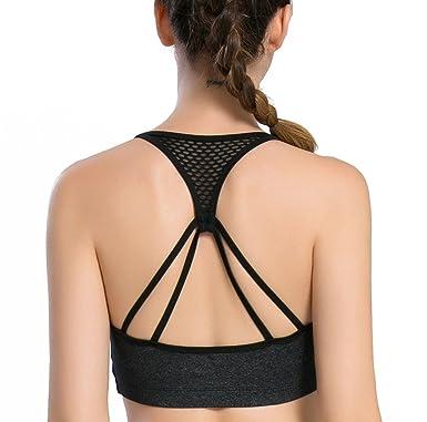 30f7eb6c94a Womens Yoga Sport Bra Light Support Strappy Free To Be Bra Black XS