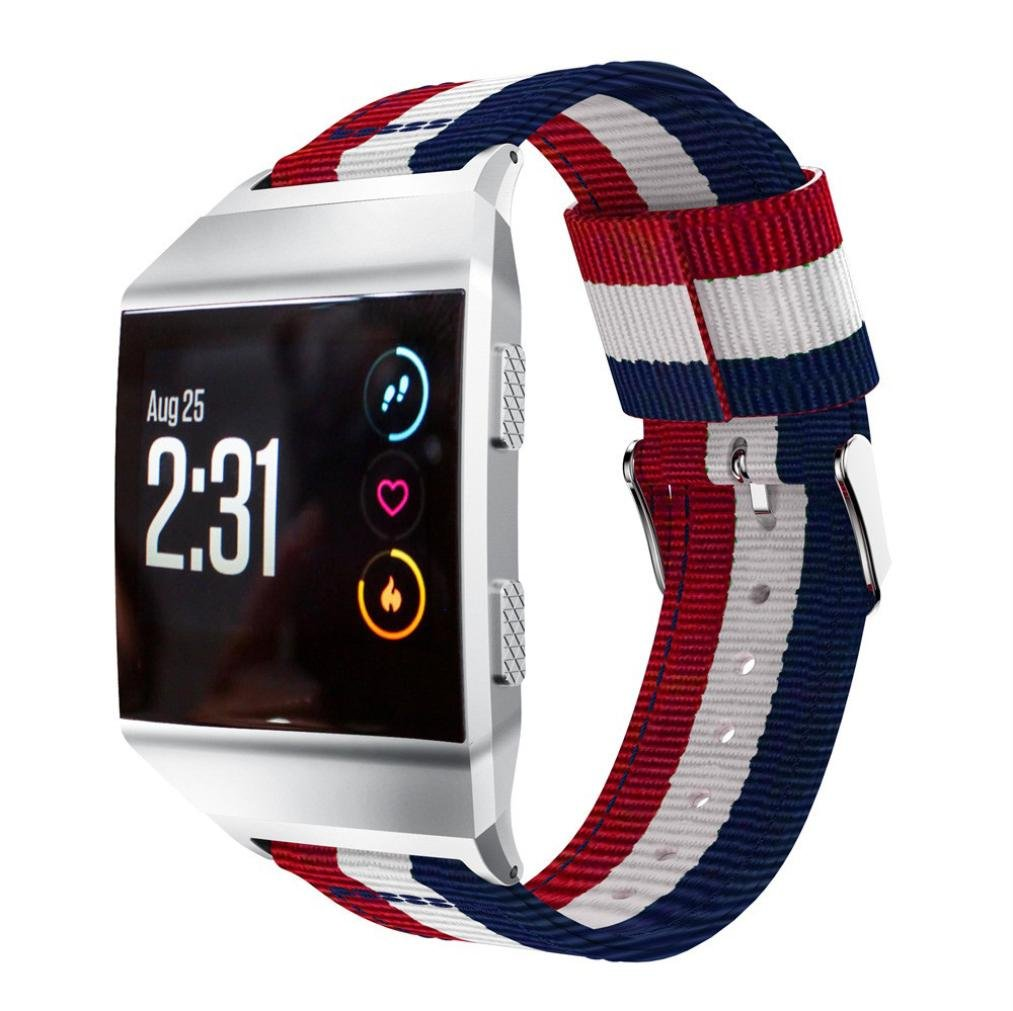HitアイテムMemela ( TM ) for Fitbit Lonic Watch、ナイロン時計バンド交換用ストラップ  A B076CJGQ47