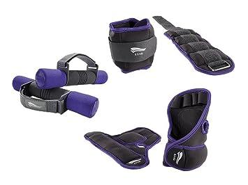 Fitness pesas para tobillo pesos para y juego de pesas de 6 color: morado