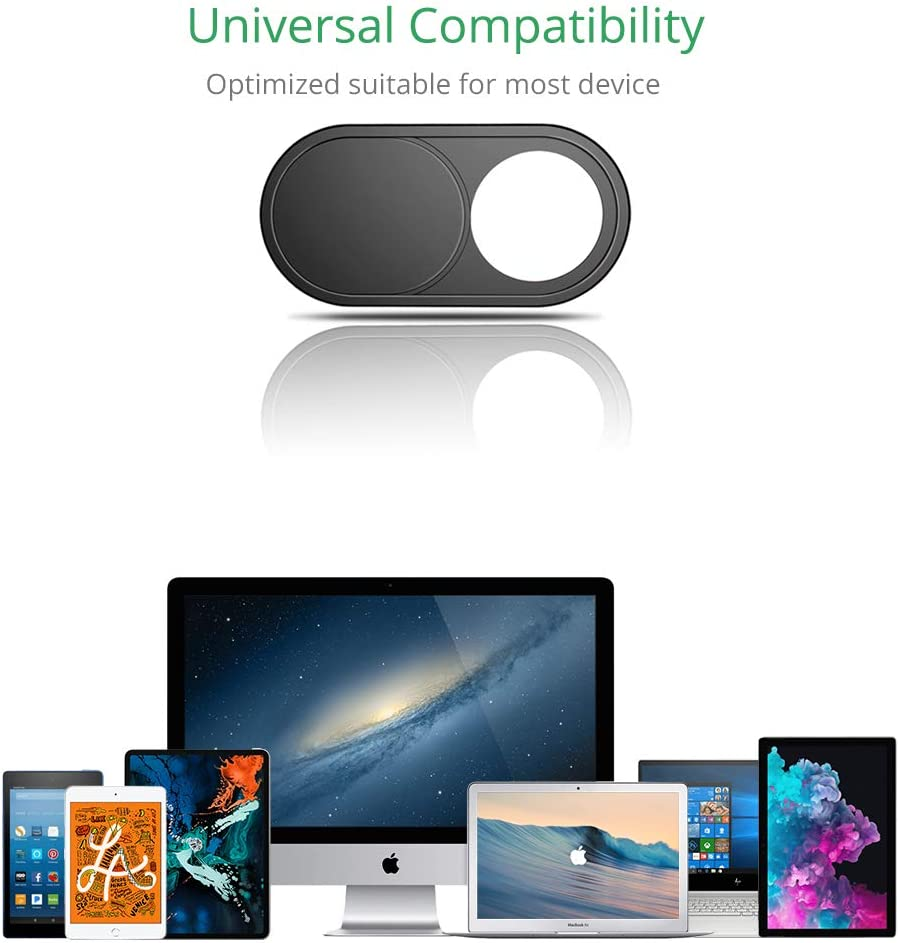 Black iMac Camera Privacy Cover PC CloudValley Webcam Cover-3 Pack 0.6mm Ultra-Thin Mini Web Camera Cover silde for Laptops MacBook Pro Computer iPad Pro MacBook Air