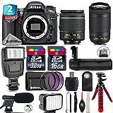 Holiday Saving Bundle for D7100 DSLR Camera + AF-P 70-300mm VR Lens + AF-P 18-55mm + Battery Grip + Shotgun Microphone + LED Kit + 2yr Extended Warranty + 32GB Class 10 - International Version