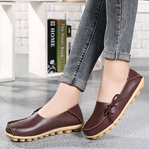 Brown Chaussures Mode Taille MUYII Grande Mère Mère La Chaussures Chaussures Confortables Infirmière De De Loisirs Chaussures ZwwPqAd