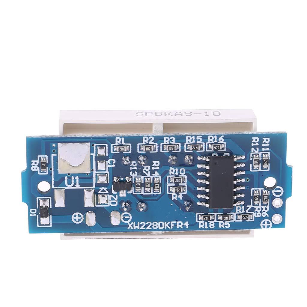 BIlinli Testeur Simple daffichage Bleu daffichage du Module 4.2V dindicateur de capacit/é de Batterie au Lithium de 3.7V