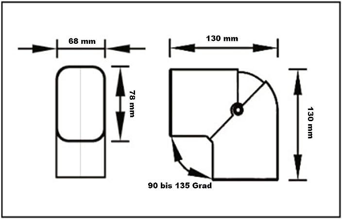 Kurve Gelenk flexibel flach CPS 72 EXC schwarz für Kältemittelleitung Klimaanlag