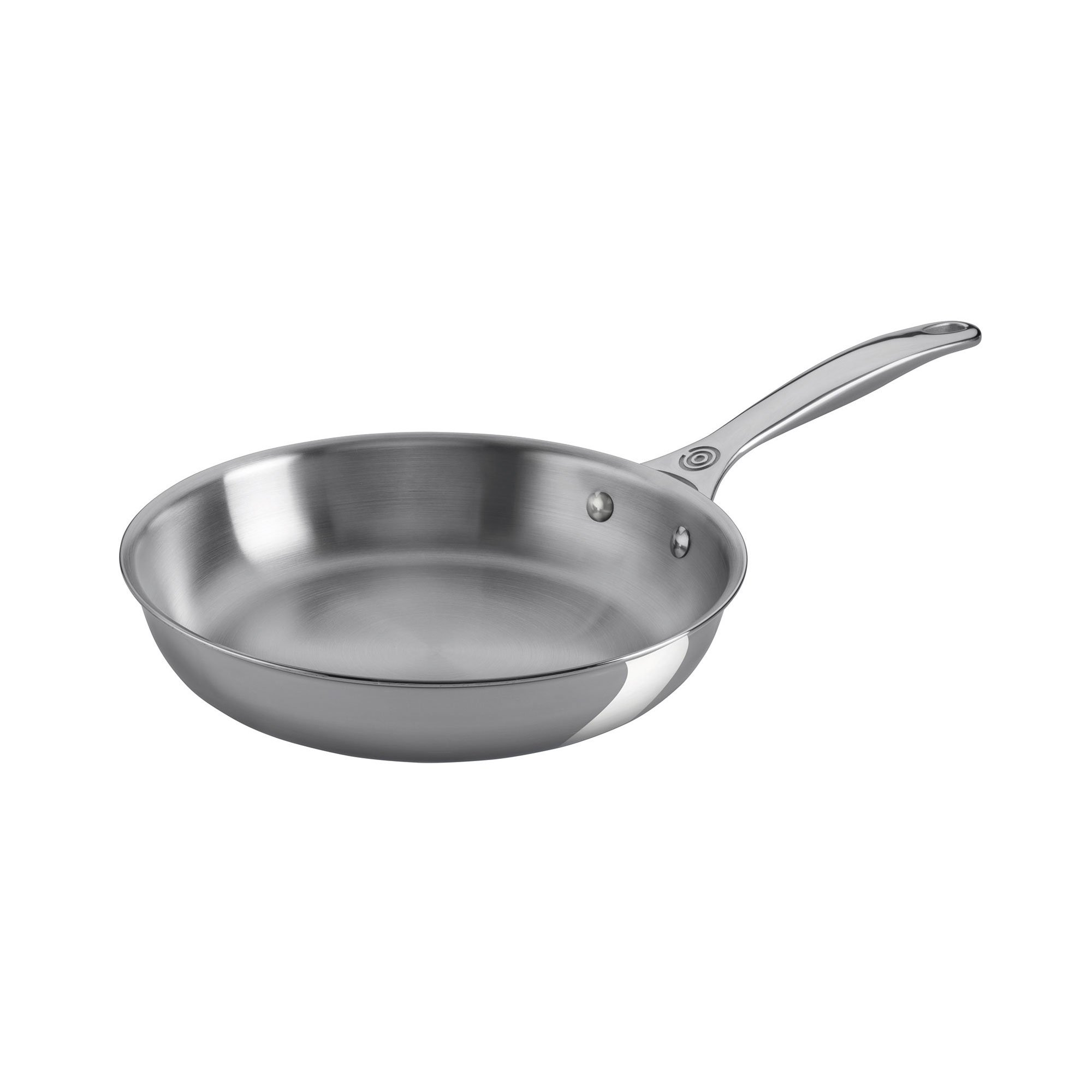Le Creuset of America Stainless Steel Deep Fry Pan with Helper Handle, 12.5''