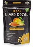 Texas Silver Drops - All Natural Honey & Lemon Soothing Drop with Immune Support Silver Solution
