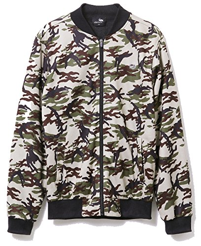 Baseball Jersey Coat (Hsumonre Men's Camo Crewneck Sweatshirt Bomber Jacket Zip Up Pocket Desiagn Casual Coat Baseball Jersey Fall S)