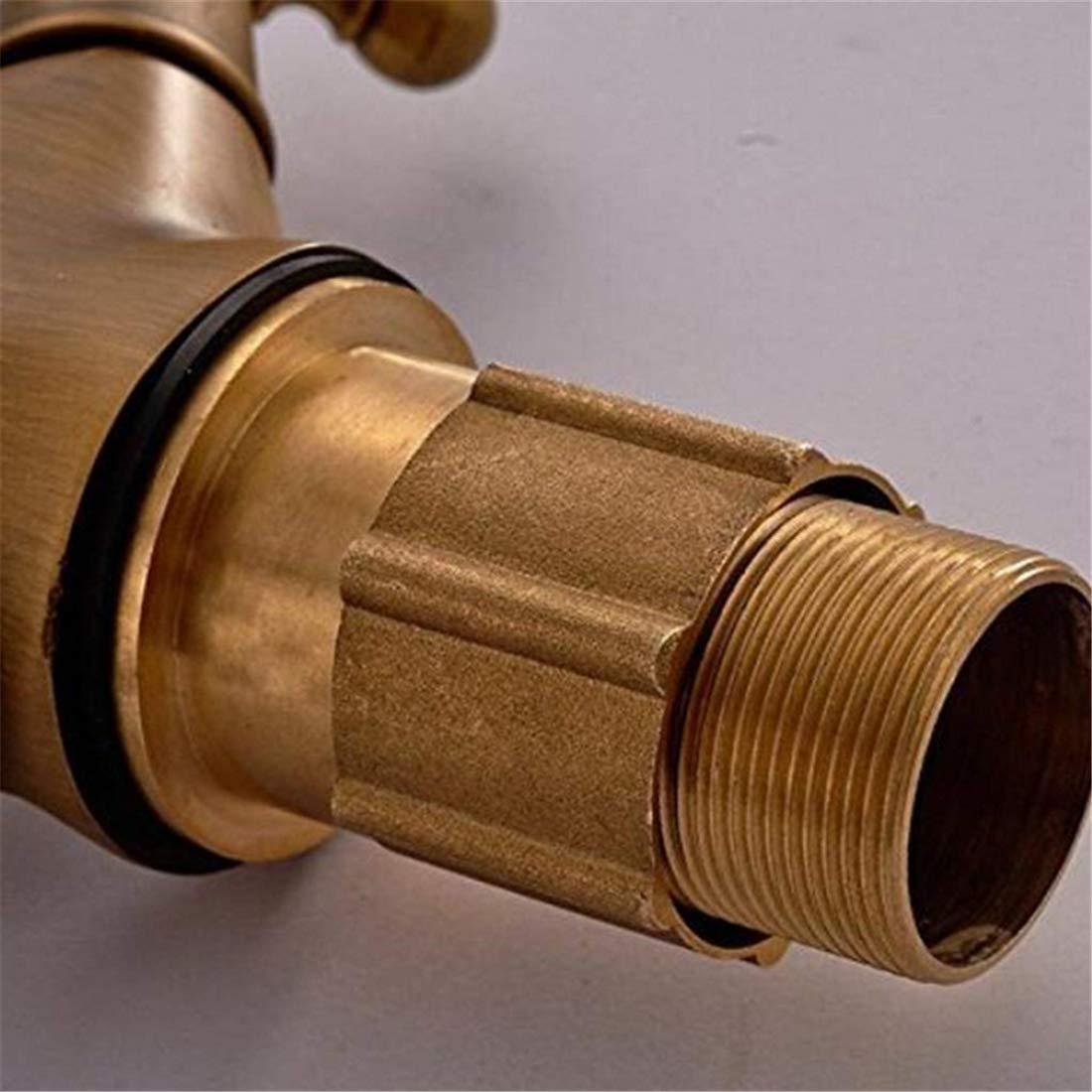 Retro Faucetbasin Mixer Tap Sink Basin Mixer Tap Single Brass Spiral Mixer