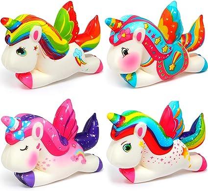 SQHOHO Jumbo Flamingo Squishy Kawaii Squishies Cream Scented Slow Rising Kids Toys Stress Relief Toy