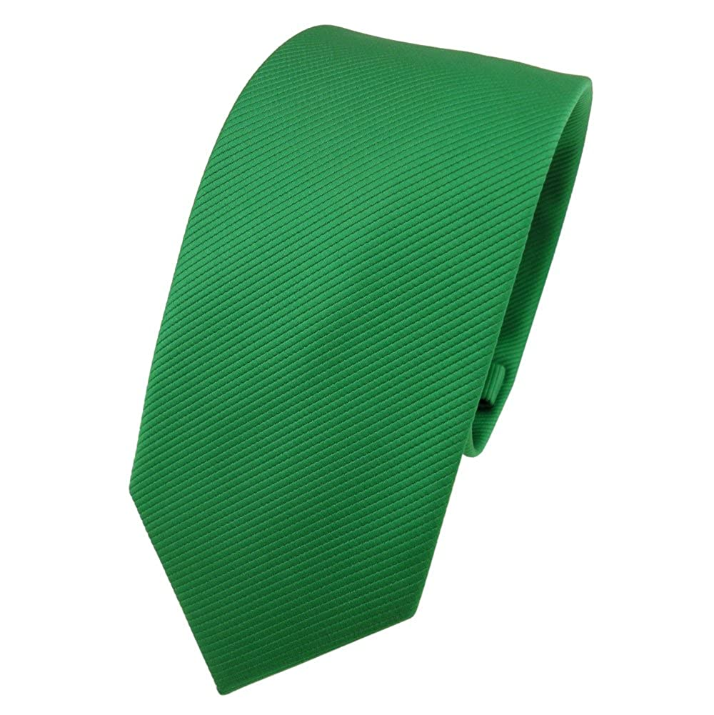 TigerTie - corbata estrecha - verde verde fluorescente monocromo ...