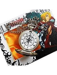 Anime Fullmetal Alchemist Edward Elric's Gift Birthday Silver White Pocket Watch Cosplay