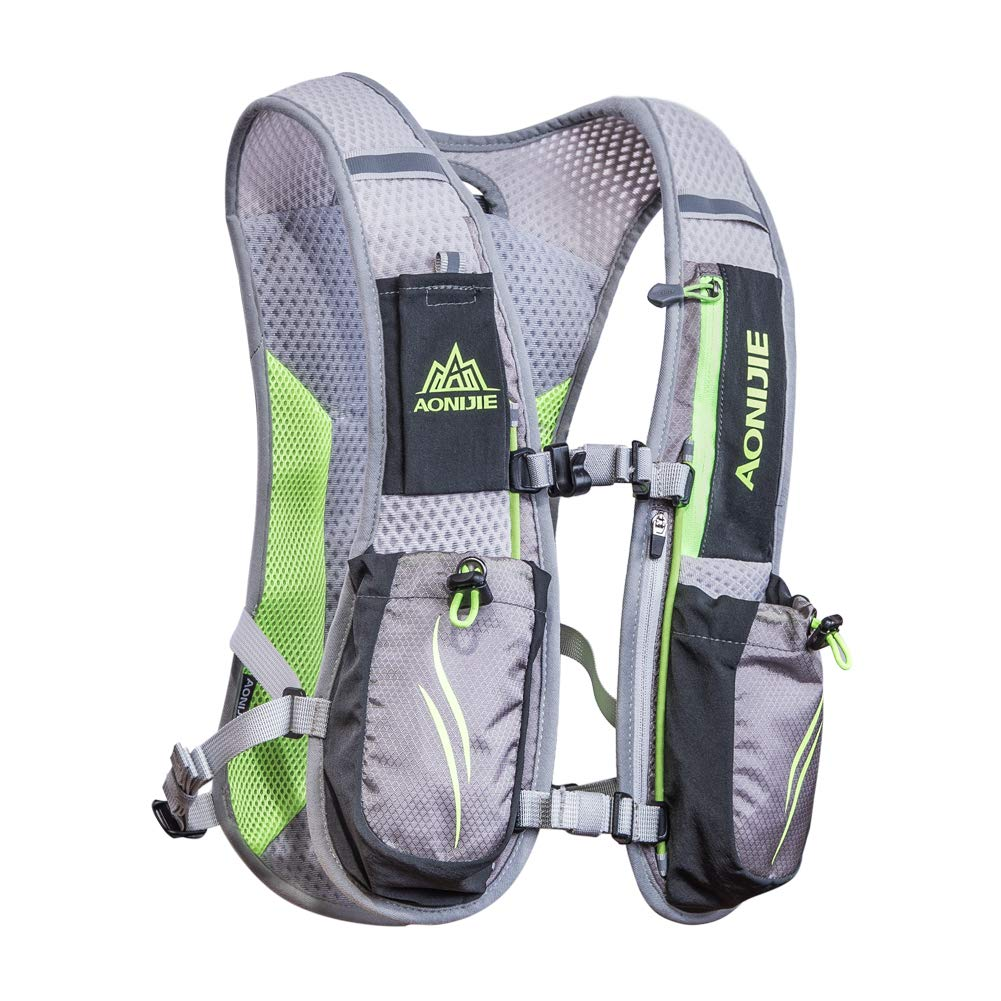 AONIJIE Marathon Hydration Vests for Running Camel Pack Running Vest Backpack Hydration Pack for Women and Men Lightweight Camel Backpack 5.5L(Gray)