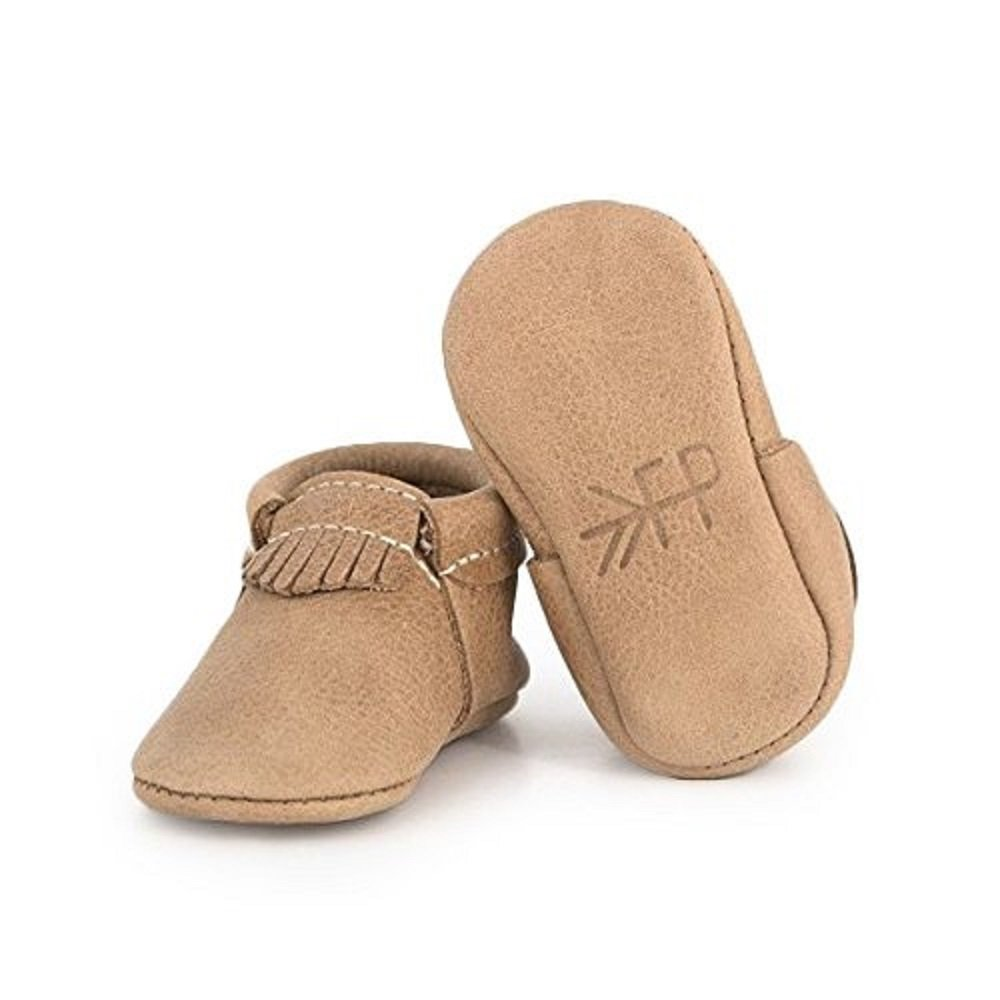 Freshly Picked - Weathered Brown City Mocc - Soft Sole Leather Baby Moccasins - Size 2
