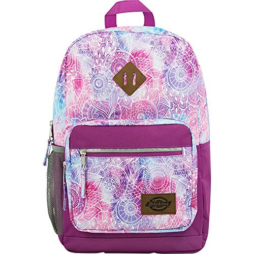 Dickies Study Hall Backpack, Mandala/Pink Berry, One Size