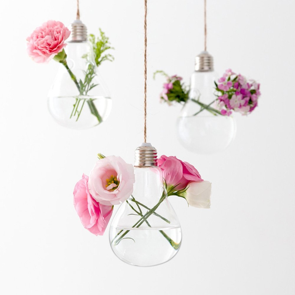 Mkouo 3stuks lampen om op te hangen plant terrarium glas Vaas