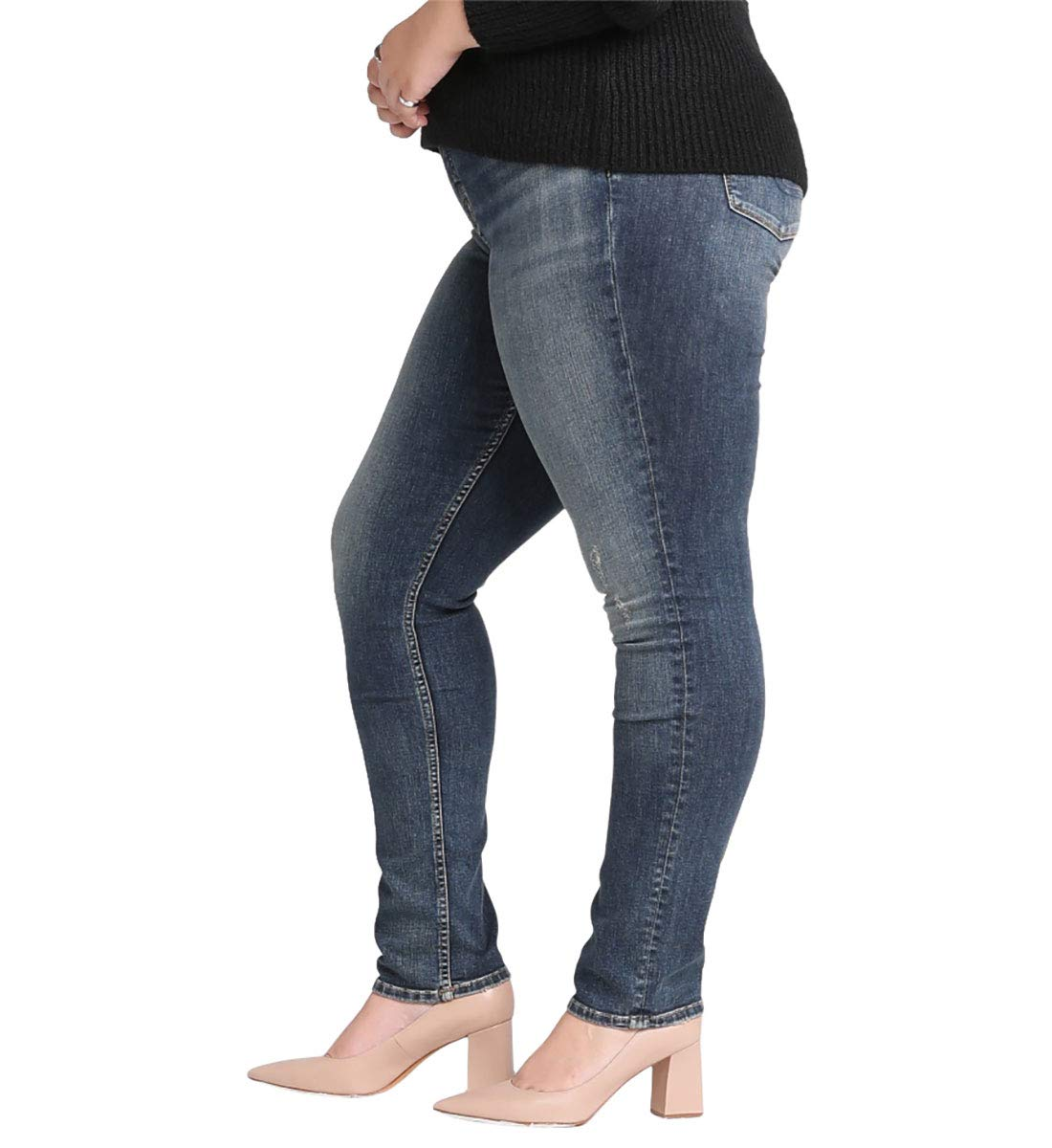 Silver Jeans Co Womens Avery Curvy Fit High Rise Skinny Jeans