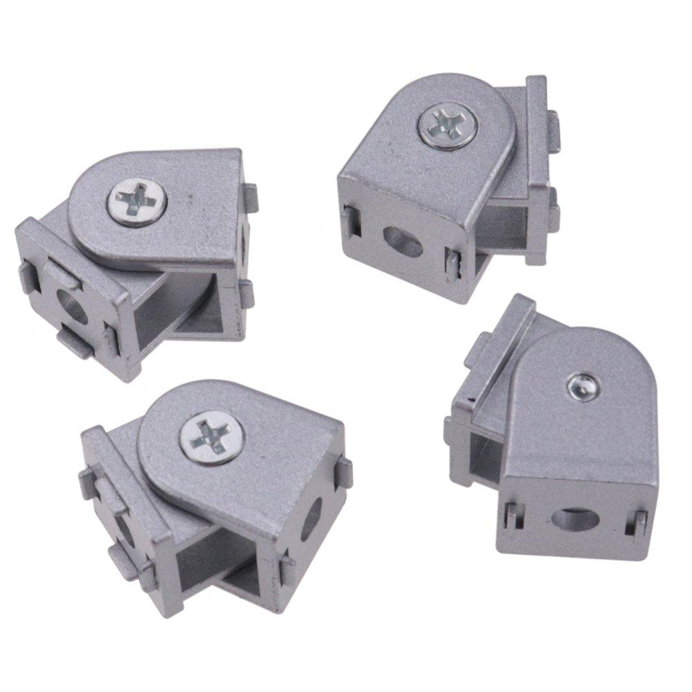 IZTOSS 4PCS Die-Cast Zinc Alloy Pivot Joint for Aluminum Extrusion Profile 2020 Series