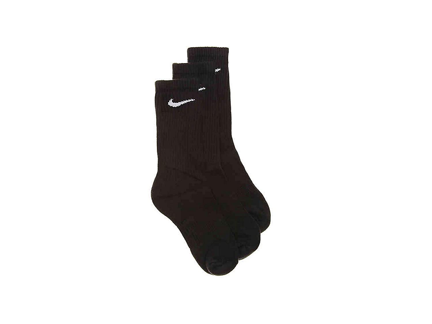 Sock Size Nike Young Athletes Toddler Kids Cushioned 3-Pair Crew Socks Shoes 7C-10CY//4-5
