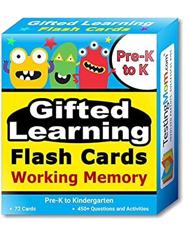 4e72798be55e Gifted Learning Flash Cards – Focus and Memory for Pre-K – Kindergarten –  Gifted