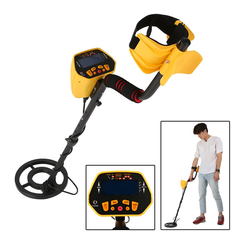 Hengda® GC-1028 Metal detector, search depth, digital probe, viewfinder, metal search device with LCD display MH