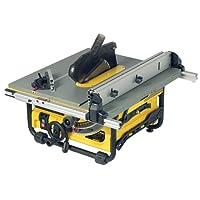 DeWalt Tischkreissäge DW745/Leistungsstarke Säge mit Parallel- und Gehrungsanschlag für höchste Präzision/Tischkreissäge inkl. HM-Sägeblatt und Absaugreduzierung/1850W