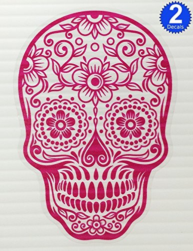 Version 103 osmdecals hot pink mexican sugar skull sticker decal day of