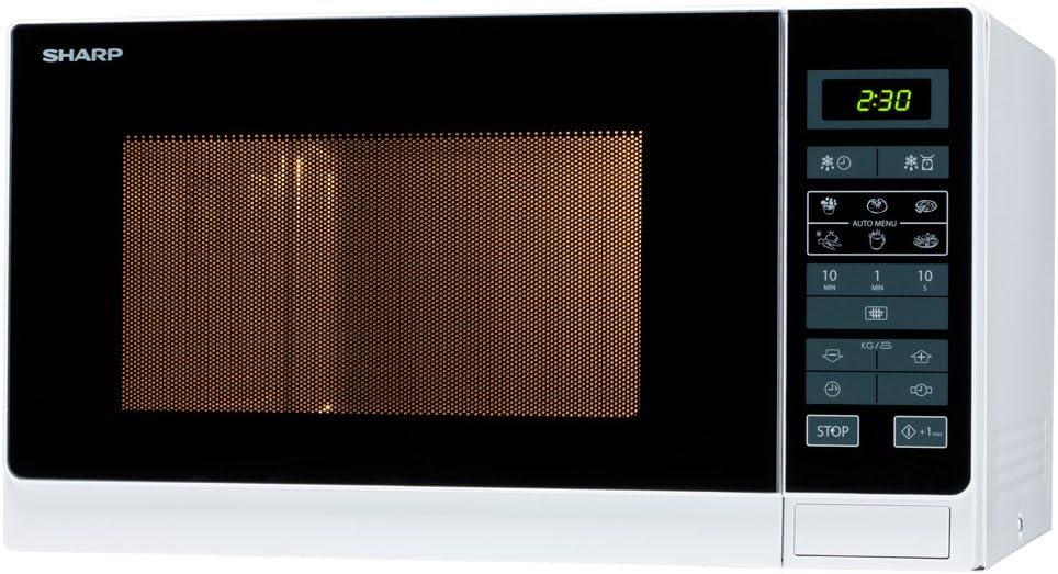 Sharp R-342 W - Microondas de 25 L, 900 W, varios colores Blanco