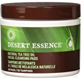 Desert Essence Tea Tree Oil Facial Cleansing Pads,50 Count, 4 Pack