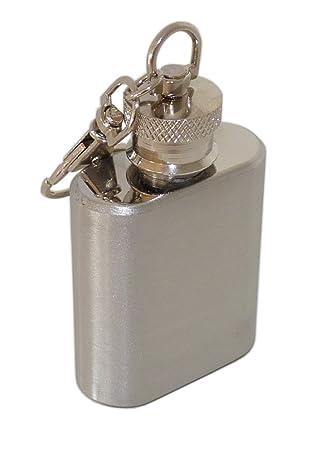 Compra Acero inoxidable Mini petaca con Clip - Llavero con ...