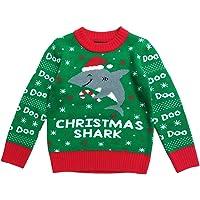 Cat /& Jack Boys/' Deer Reindeer Grey Ugly Christmas Sweater XXL