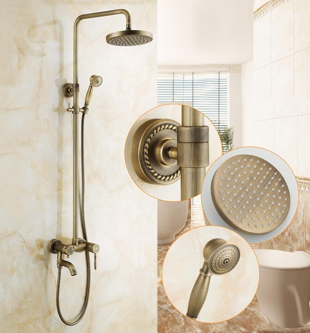 outlet SAEKJJ-European Copper Antique Adjustable Shower Faucet ...
