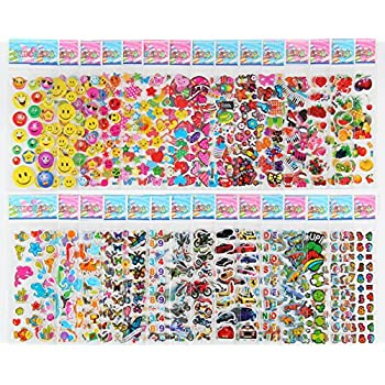 Pack of 30 Different Sheets MCY MoCeYa Toddlers and Kids Puffy Stickers for Children (Girls and Boys),700+ Puffy Stickers Mega Variety Pack