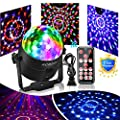 Party Ball Light Disco Lights Mini Disco Ball 6 Colors Stage Lights With Remote Control, Sound Motion Sensor Stage Lights for Indoor Kid's Parties, Bar, Dancing, Wedding. Upgraded Version