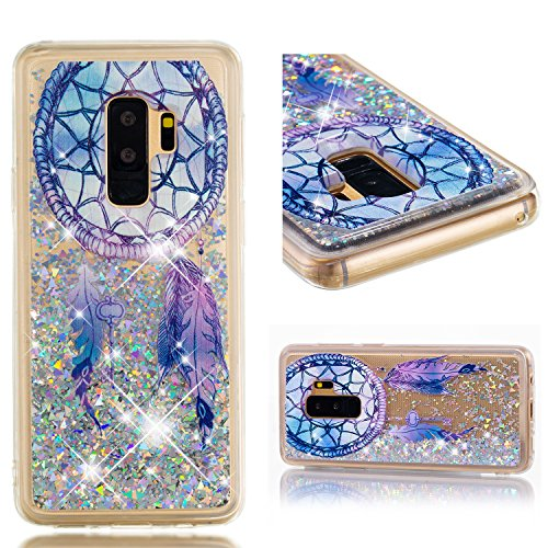 Galaxy S9 Plus Case, UZER Cute Bling Quicksand Moving Flowing Floating Luxury Twinkle Glitter Shining Sparkle PC Hard Slim Thin TPU Bumper Liquid Case for Samsung Galaxy S9 Plus 2018 Model ()