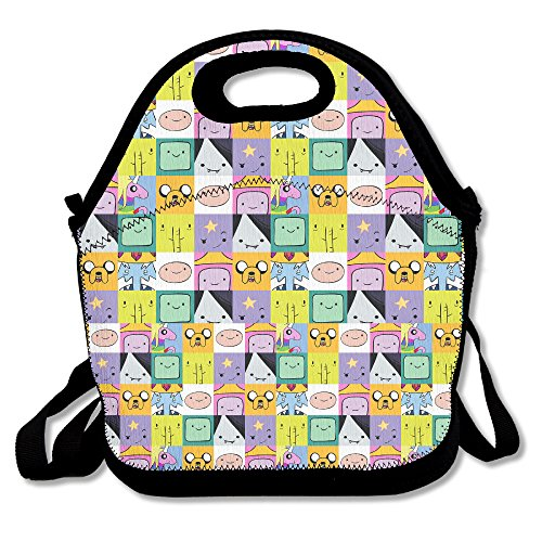 NNHAHA Adventure Time Lunch Bag Tote Handbag Lunch Boxes
