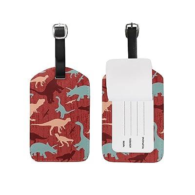 MAPOLO Jurassic Dinosaurs PU Leather Luggage Tags Travel ID Bag Tag , 1 Pcs