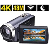 Camcorder Video Camera 4K 48MP WIFI Control Digitial Camera 3.0'' Touch Screen Night Vision Video Camcorder