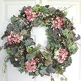 English Garden Silk Door Wreath (24 inch)