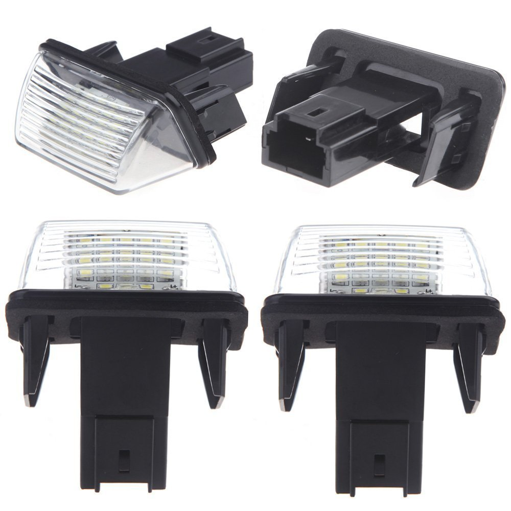 Kamenda 2pcs SMD LED Placa Matricula Coche Lampara for 206 207 306 307 406 407 C3