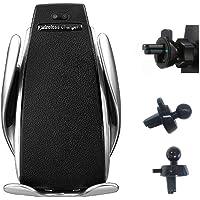 Carregador/Suporte Veicular Sem Fio/Wireless/Indução Samsung/iPhone/Android/iOS Celular Turbo 10W NF