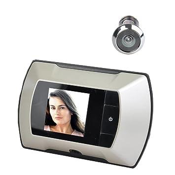 35 inch lcd hidden front door digital peephole viewer diy doorbell security camera