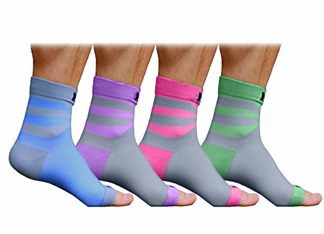 NAK Fitness - Chaussettes de compression pour fasciite plantaire - soutien les chevilles/douleur aux talons
