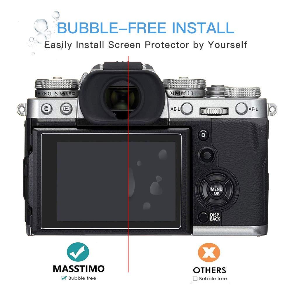 Gran Transparencia 3 Unidades Masstimo Protector de Pantalla para Nikon Z7 Z6 C/ámara Anti-ara/ñazos. Protector de Pantalla Cristal Vidrio Templado