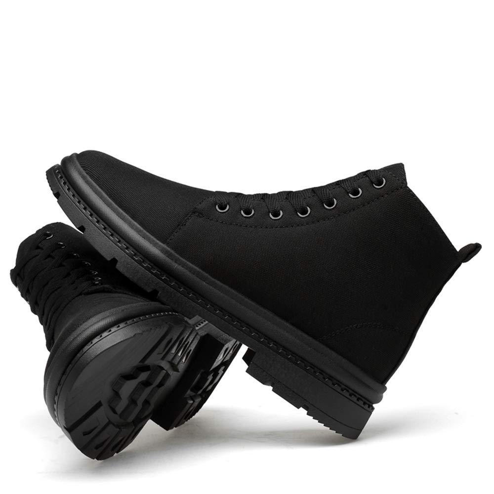 YAJIE-Stiefel, Herren Stiefeletten, Stiefeletten, Stiefeletten, leinwand Vamp Casual hohe Bequeme einfache Fleece gefüttert warme Schuhe (konventionell optional) (Farbe   Warm schwarz, Größe   39 EU)  fa5f6e