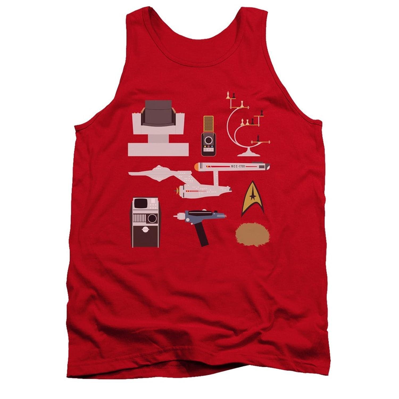 Star Trek The Original Sci-Fi TV Series Essential Vector Items Adult Tank Shirt