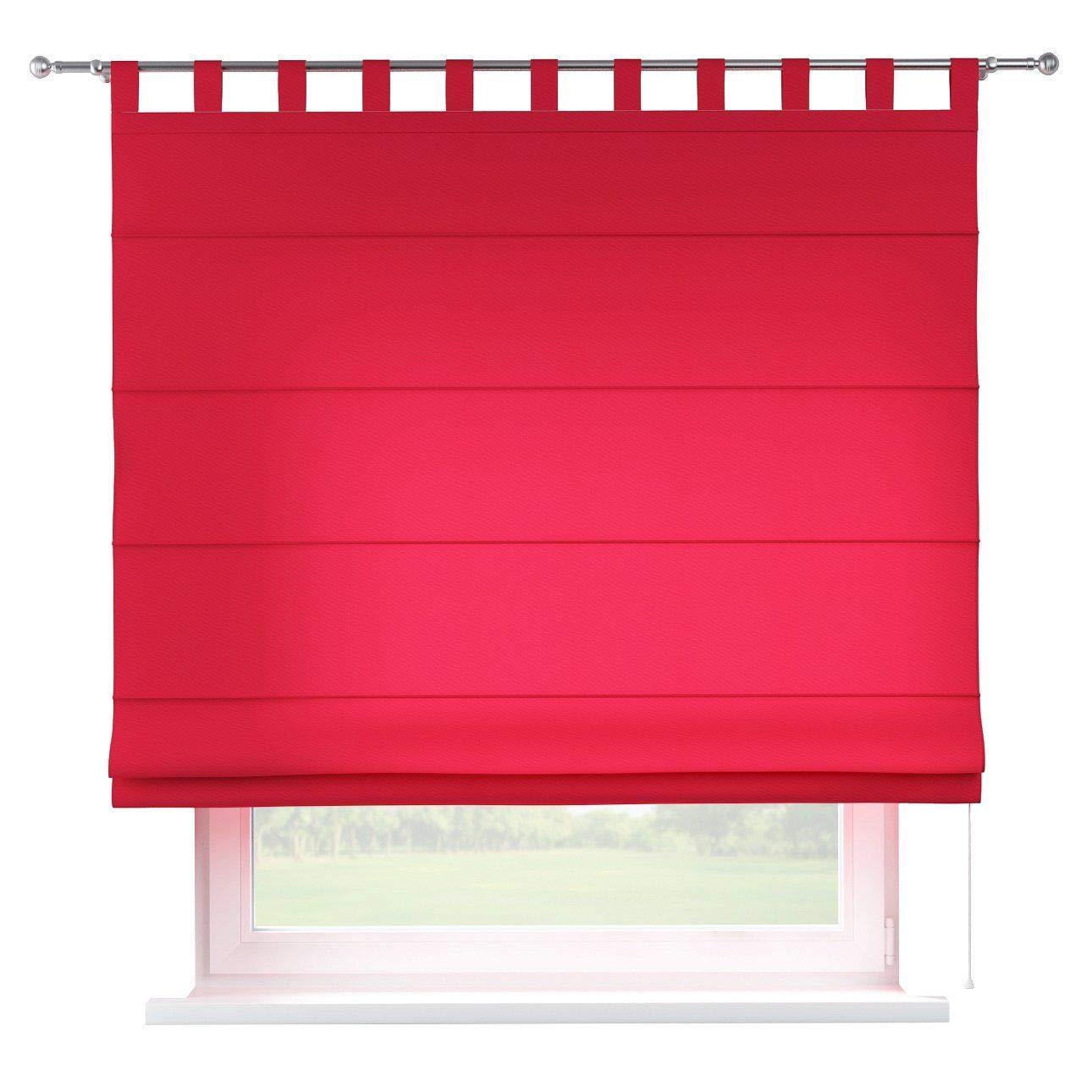 Dekoria Raffrollo Verona ohne Bohren Blickdicht Faltvorhang Raffgardine Wohnzimmer Schlafzimmer Kinderzimmer 160 × 170 cm rot Raffrollos auf Maß maßanfertigung möglich