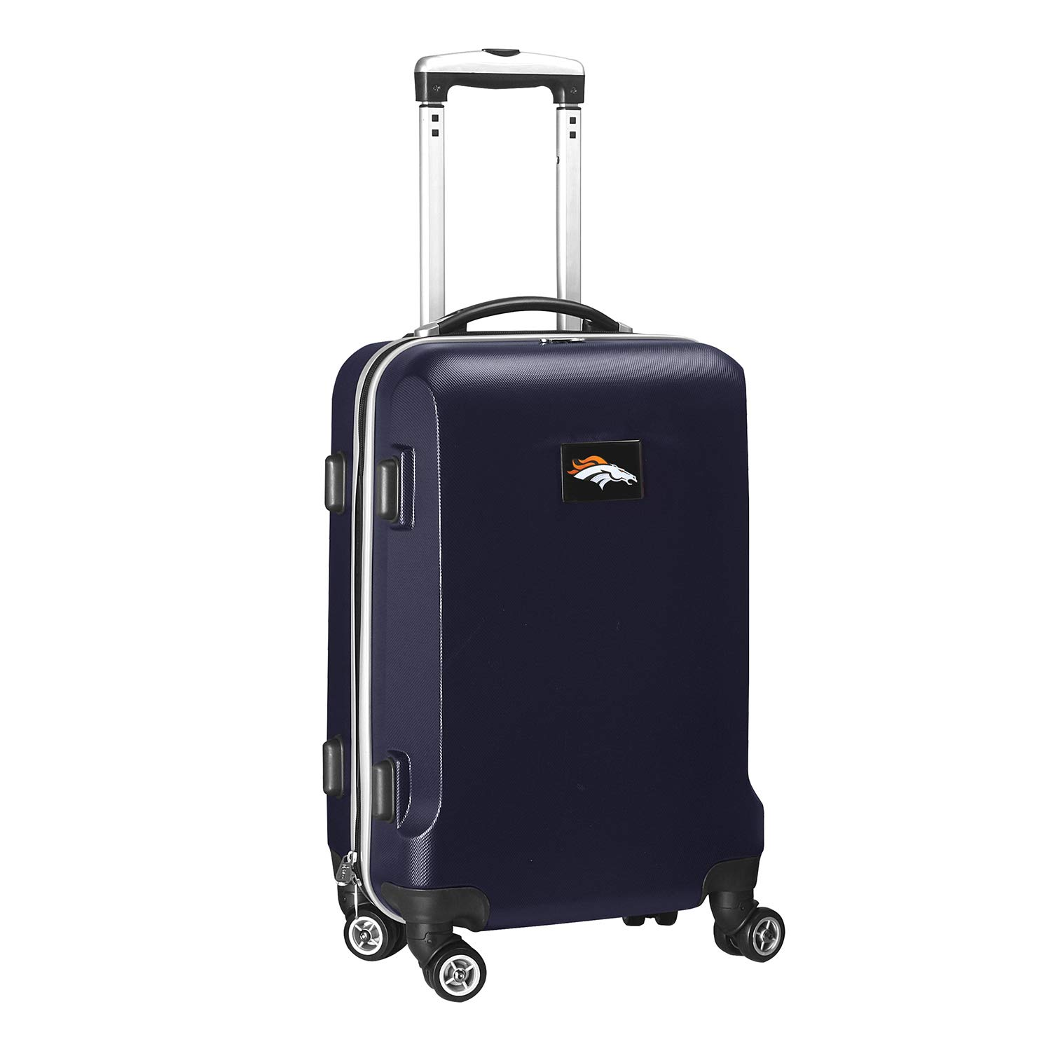 NFL Denver Broncos Carry-On Hardcase Luggage Spinner, Navy by Denco (Image #1)