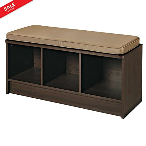 Phenomenal Amazon Com Cubical Storage Bench Foyer Hall Entryway Wooden Machost Co Dining Chair Design Ideas Machostcouk